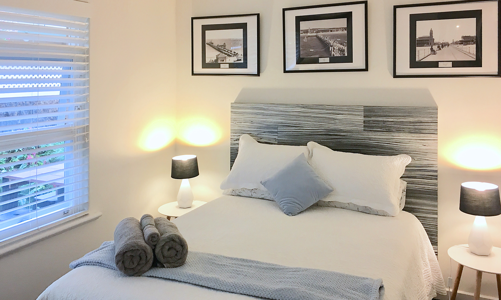 Adelaide beach holiday accommodation bedroom two with pictures