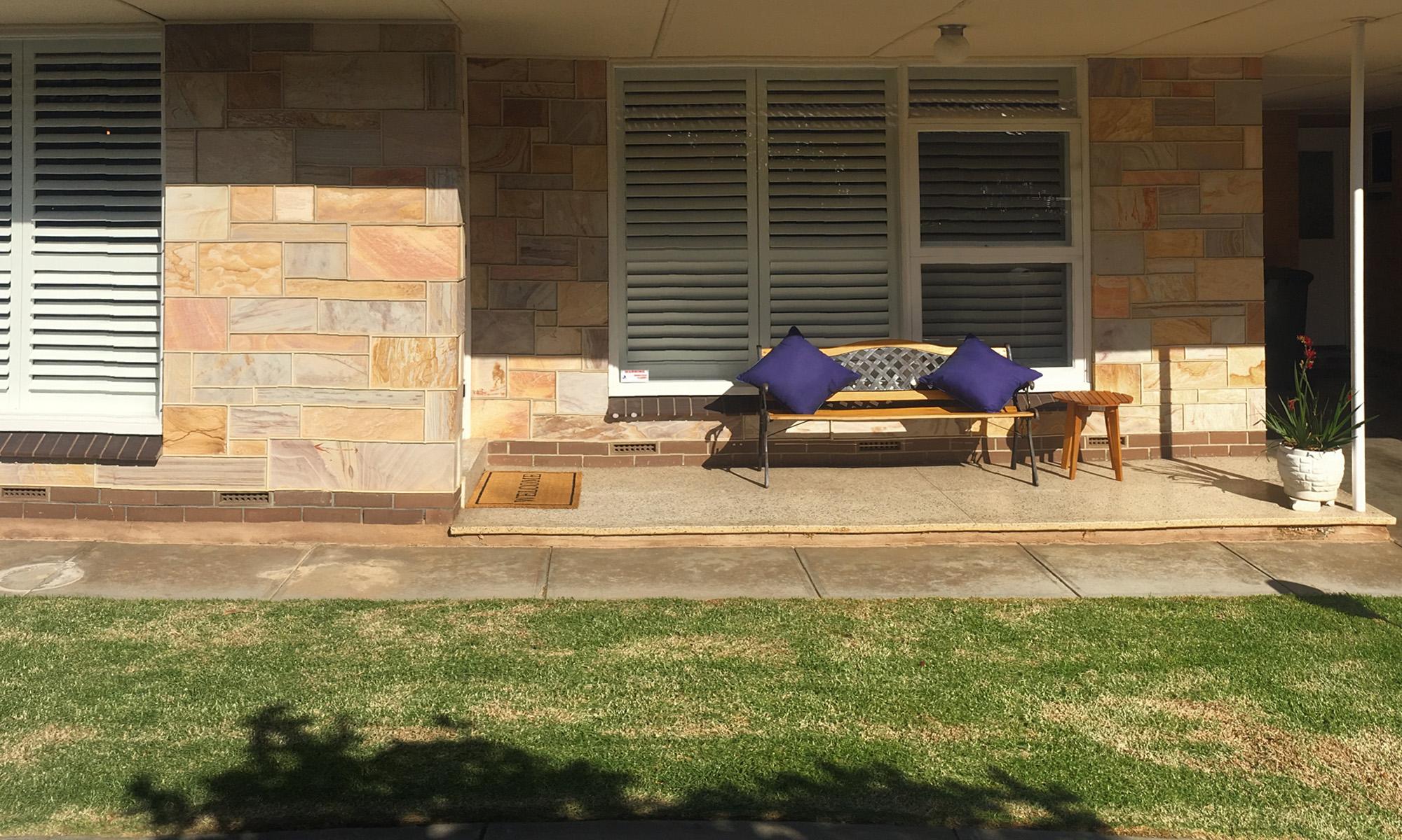 Adelaide beach holiday accommodation front verandah