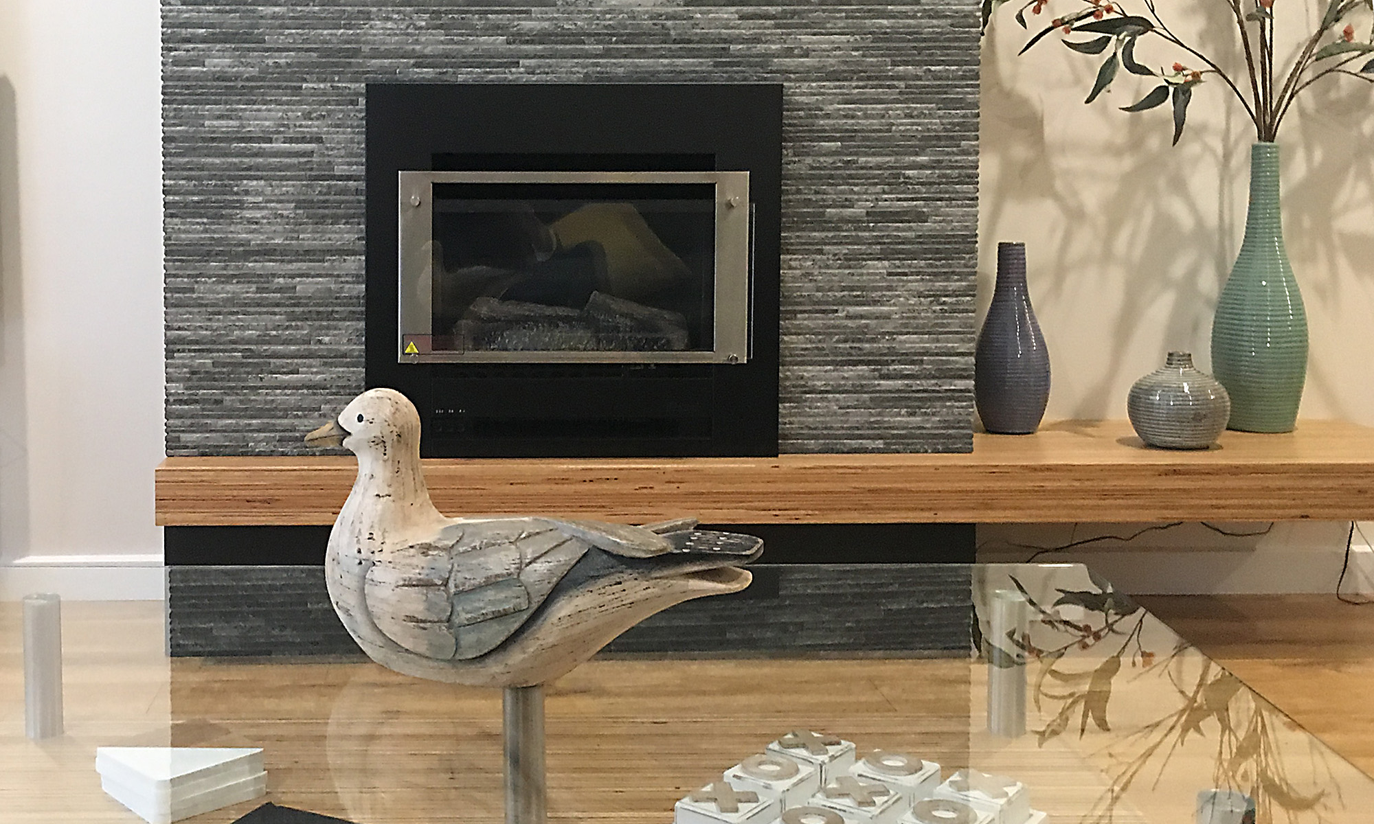 Adelaide beach holiday accommodation - gas log fire
