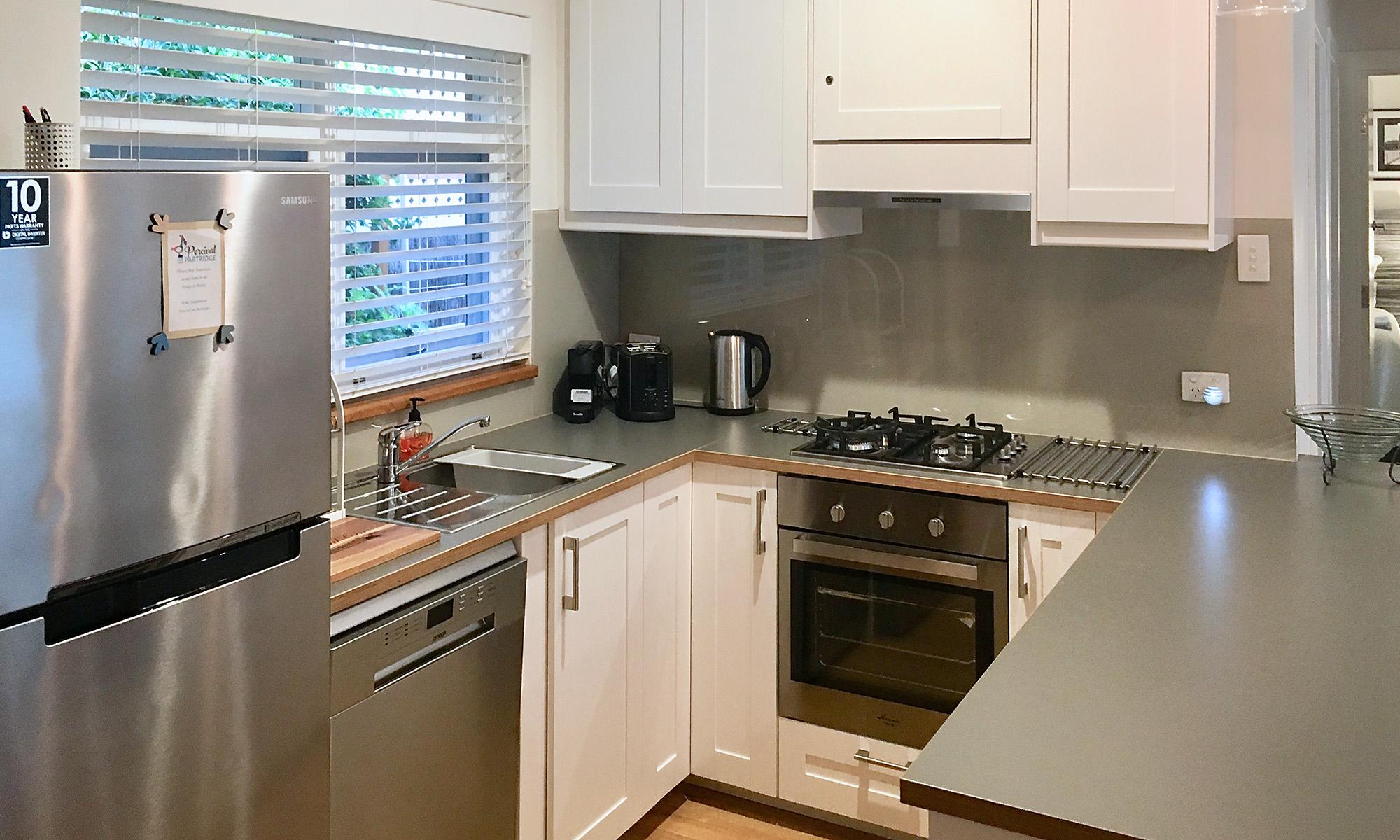Adelaide beach holiday accommodation kitchen