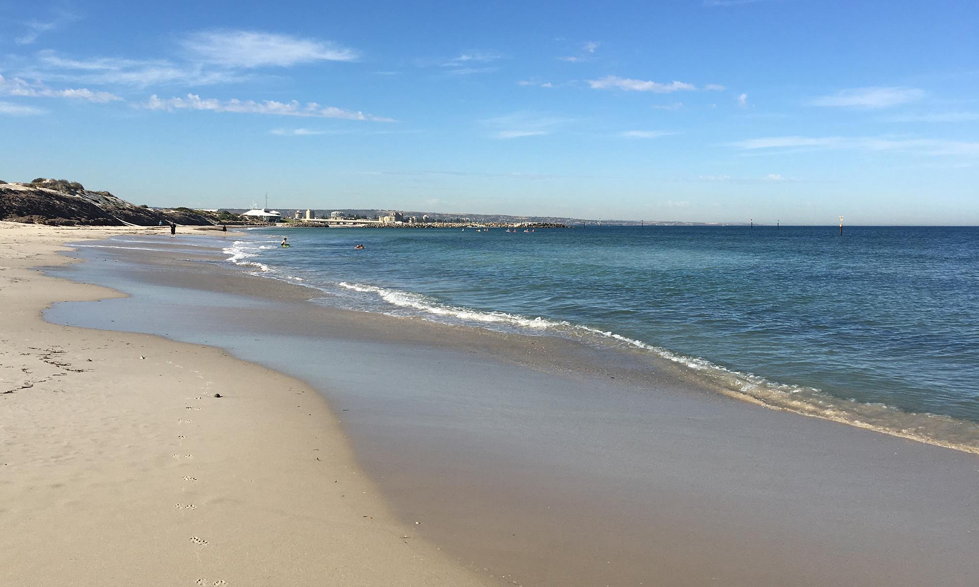 Adelaide beach holiday accommodation - Glenelg beach