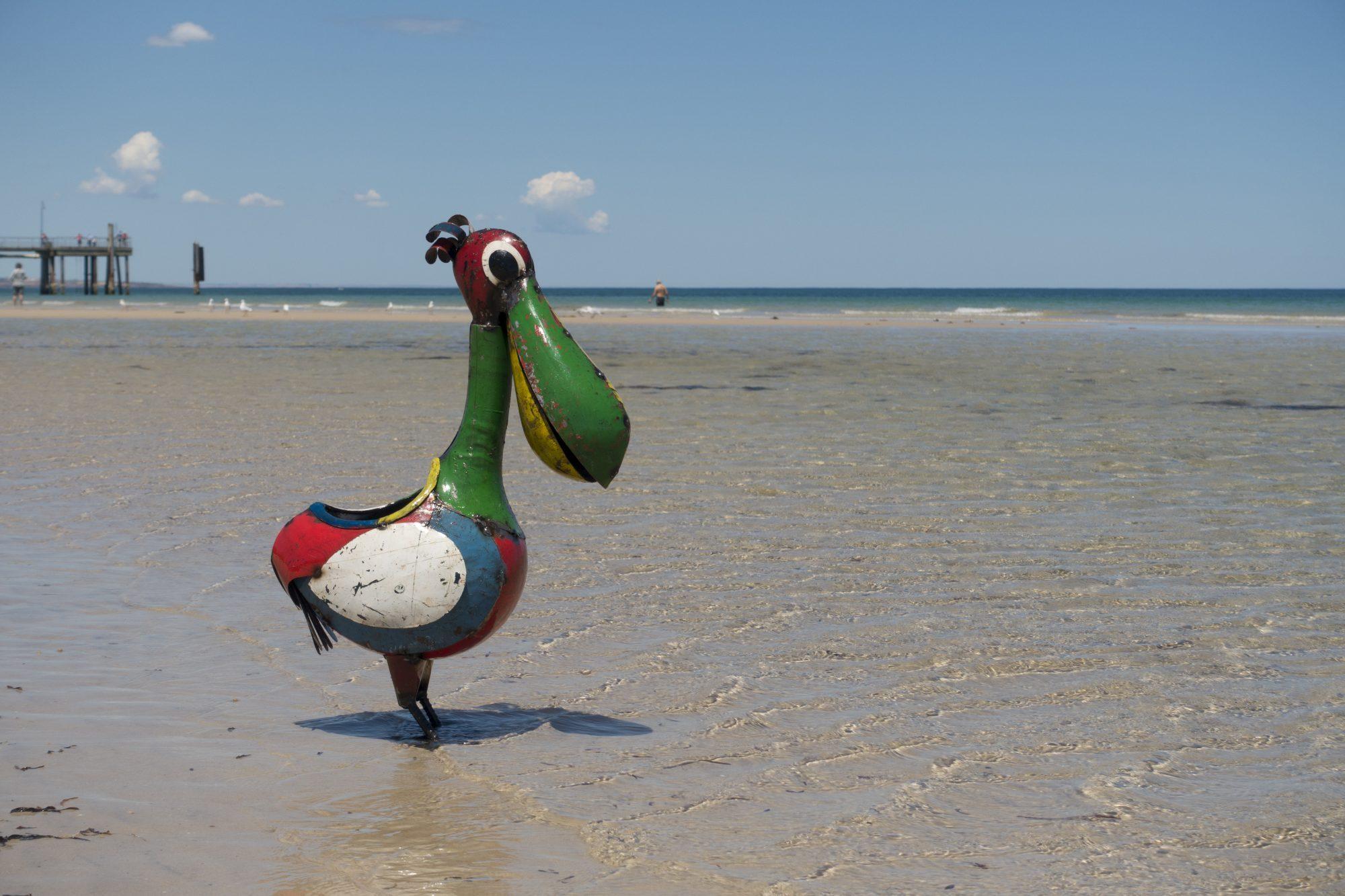 Adelaide beach holiday accommodation Percival paddling